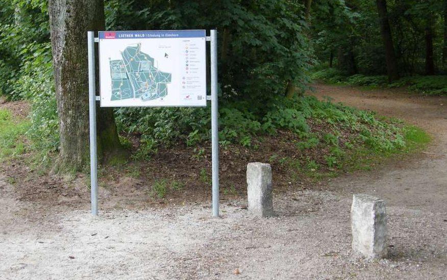 Hinweistafeln für den Liether Wald